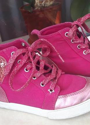 Кеды высокие usa 1, джимбори, 20 см, 30-31 размер, розовые, сердце