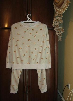 Пижама next, 100% полиестер, размер m/l, коллекция 2017 года
