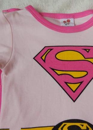 Новый бодик платье костюм super girl bailiweini на 6 мес5 фото