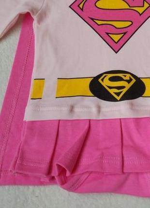 Новый бодик платье костюм super girl bailiweini на 6 мес4 фото