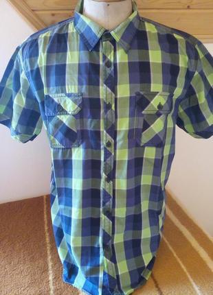 Мужские рубашка клетка розмір-42-43