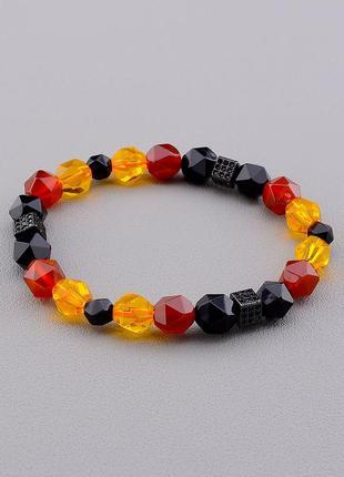 Браслет 'sunstones' агат,сердолик,кварц 17 см.  0647570