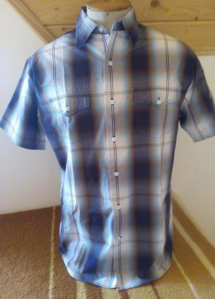 Мужские рубашка клетка розмір-38-40