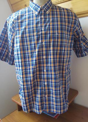Рубашка клетка стиль розмір-43-44