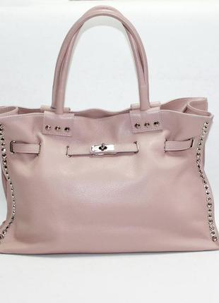 Большая женская сумка италия натуральная кожа