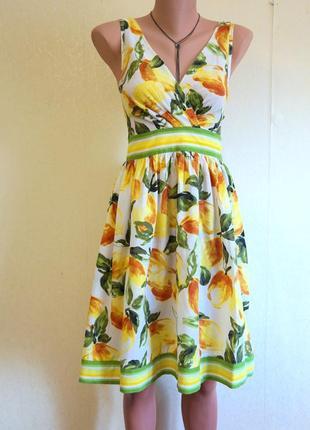 Платье с принтом лимоны
