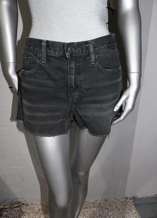 Черные джинсовые шорты gap
