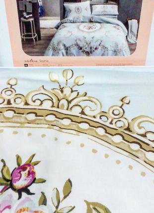 Постельное белье tac сатин - sophie золотой еврокомплект