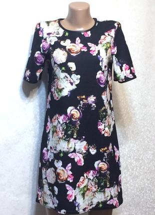 Симпатичное платье прямого кроя river island , р.8_