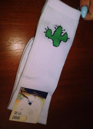 Високие носки с кактусом
