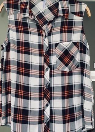 💥скидки!!! стильная брендовая рубашка в клетку