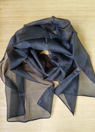 Палантин / накидка / шарф расшитый бисером