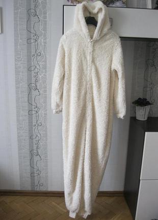 Мехово-зефирная кигуруми мишка умка на севере пижама человечек слип л1 фото