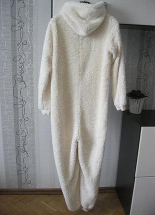 Мехово-зефирная кигуруми мишка умка на севере пижама человечек слип л4 фото
