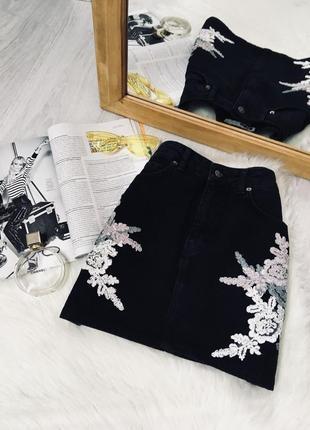 Джинсова юбка від topshop🖤🖤🖤