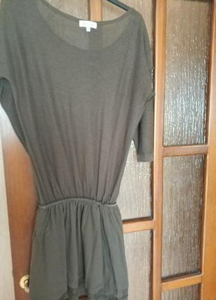 Трикотажное платье туника massimo dutti