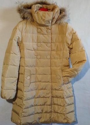 Женский пуховик женская пуховая куртка пальто l наш 46- 48 пух
