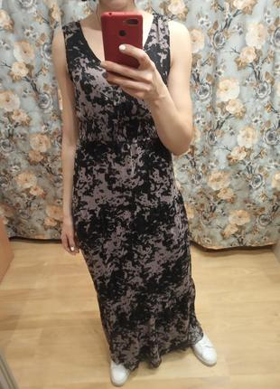Классное оригинальное летнее длинное платье от vila, на размер хs, s