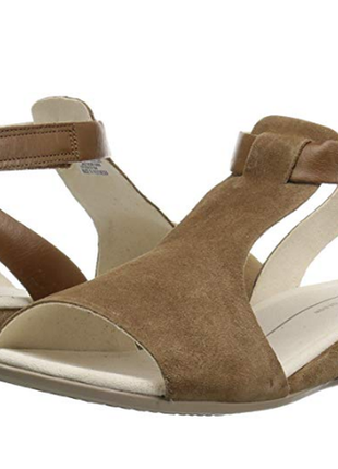 Кожаные босоножки сандалии шлепки ecco touch