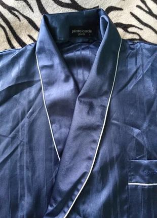 301ac8455e93e Шикарный мужской шелковый халат, пьер карден, оригинал с галограммой