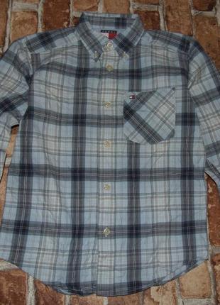 Рубашка котон 7лет томми хелфигер