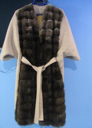 Соболь. шуба- пальто из соболя, летучая мышь. новое.
