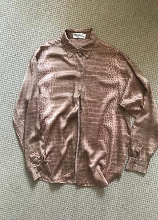 Рубашка оригинал  крокодил рептилия пудра