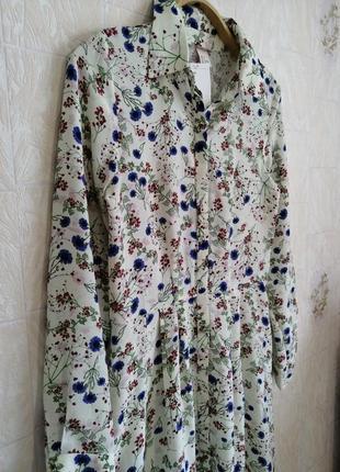 Красивейшее платье/рубашка, из гладкой вискозы.9 фото