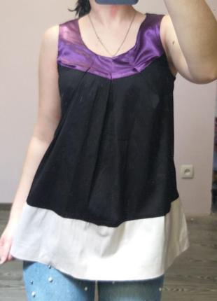 Трехцветная блуза