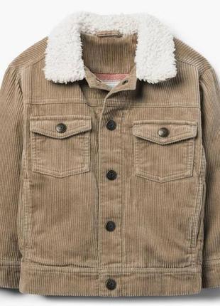 Вельветовая куртка на трикотажной подкладке для мальчика 4-5, 5-6 лет gymboree