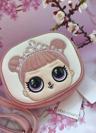Нежная сумочка для девочки с вышивкой и стразами