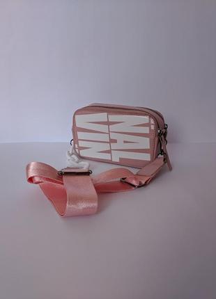Стильная женская новая маленькая сумка кросс-боди розового цвета