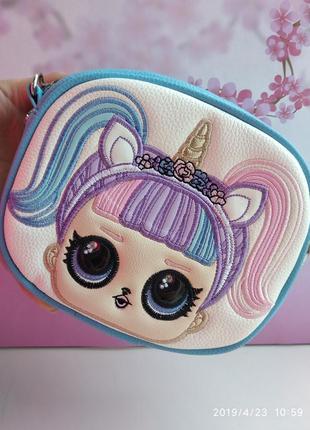 Детская сумочка с лол единорог