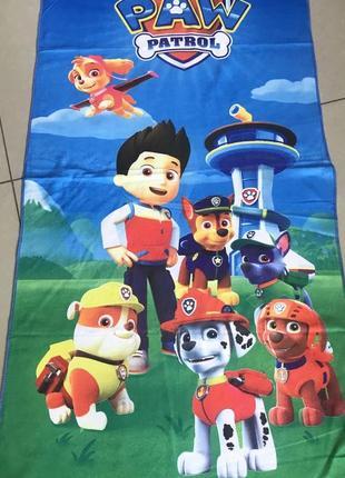 Пляжное полотенце для мальчика щенячий патруль