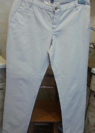 Штаны брюки светло-бежевые mango 36 s 100%котон