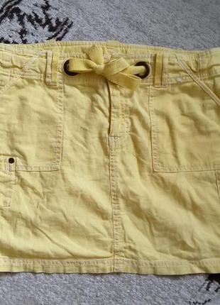 Яркая коттоновая мини-юбка от papaya на м/л