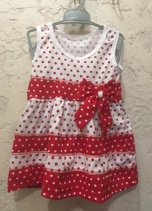 Летнее трикотажное платье для девочки.