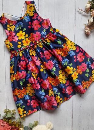 Платье в цветочек на 2 года