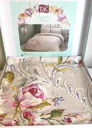 Постельное белье tac ранфорс - leila постель лососевый семейное