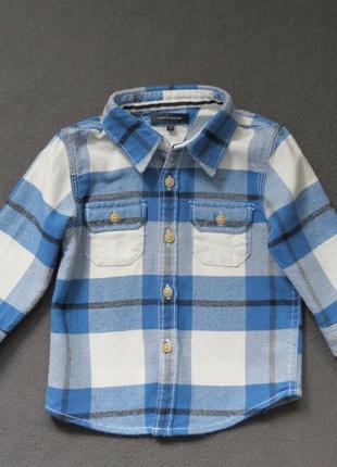 Теплая детская рубашка tommy hilfiger(рост 74 см)