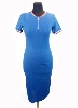 Летнее легкое платье mixray. цвет электрик