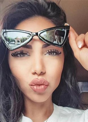 Очки.солнцезащитные очки.зеркальные очки.очки треугольники.очки для стиля