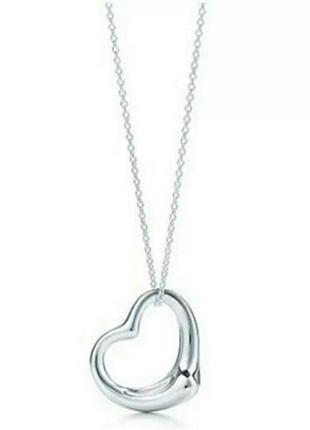 Нежная подвеска серебряное сердце стильный минимализм