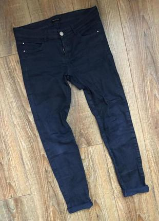 Синие skinny стильные джинсы 30рр брюки/штаны