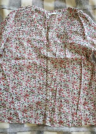 Летняя блуза-рубашка