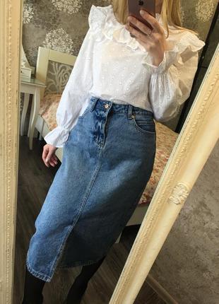 Блузка с ажурной вышивкой1 фото