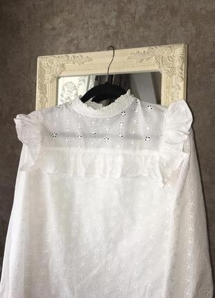 Блузка с ажурной вышивкой2 фото