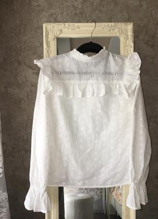 Блузка с ажурной вышивкой6 фото