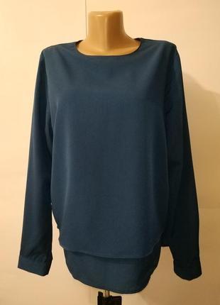 Синяя двухслойная красивая блуза большого размера большого размера uk 18/46/xxl