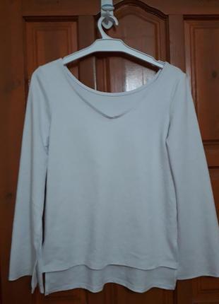 Кофточка реглан блуза белая gloria jeans